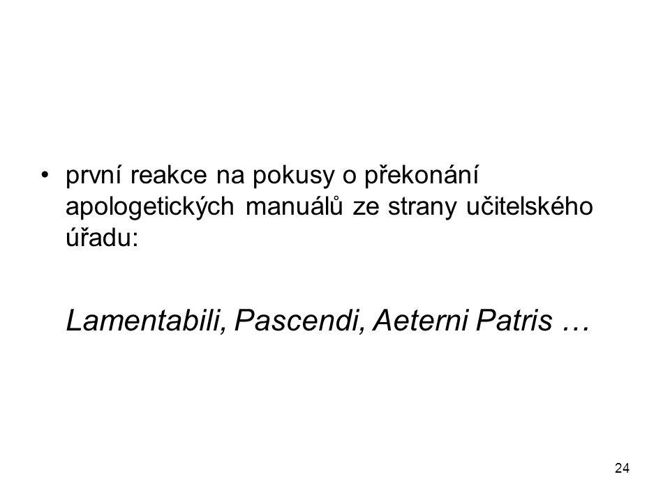 Lamentabili, Pascendi, Aeterni Patris …
