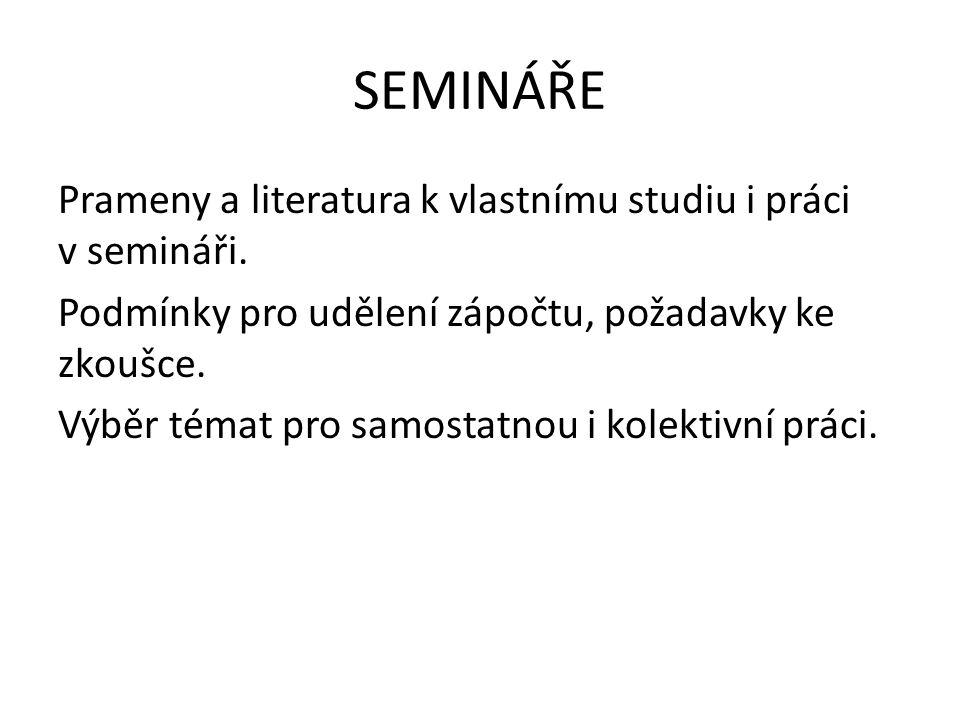 SEMINÁŘE