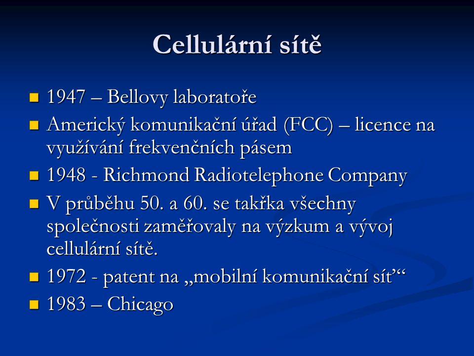 Cellulární sítě 1947 – Bellovy laboratoře