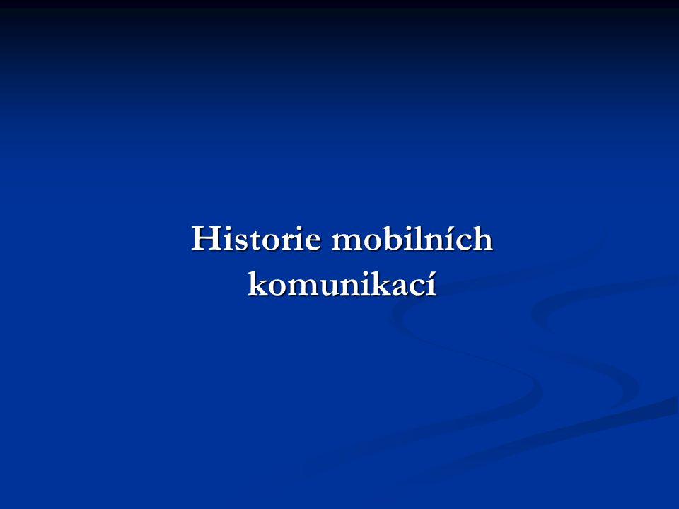 Historie mobilních komunikací