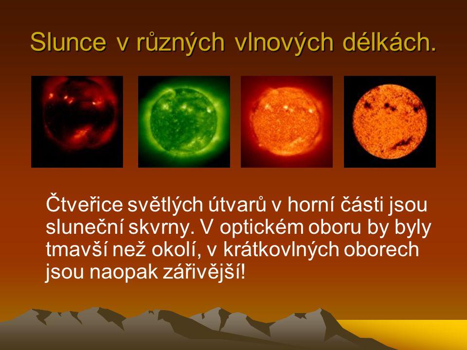 Slunce v různých vlnových délkách.