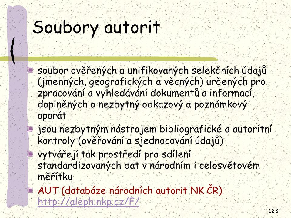 Soubory autorit
