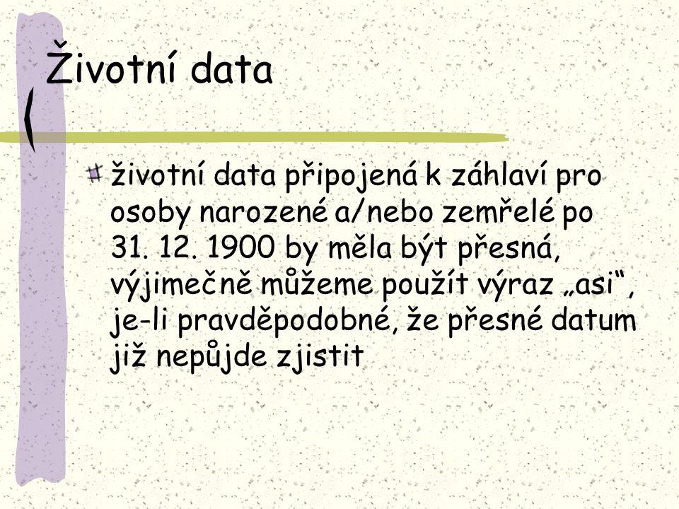 Životní data