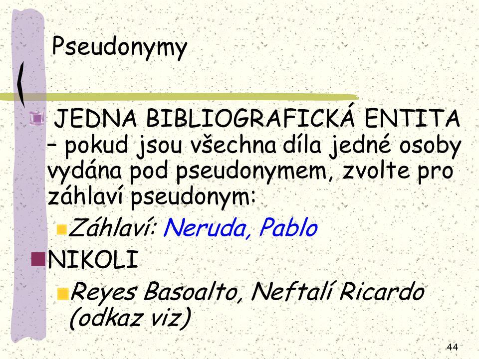 Pseudonymy Záhlaví: Neruda, Pablo NIKOLI