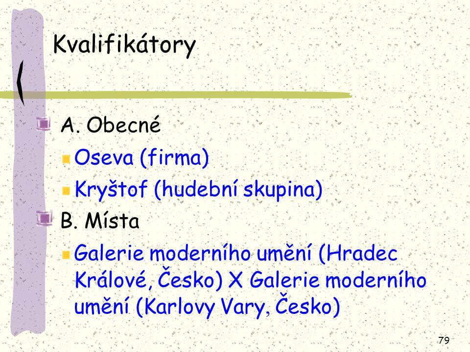 Kvalifikátory A. Obecné Oseva (firma) Kryštof (hudební skupina)