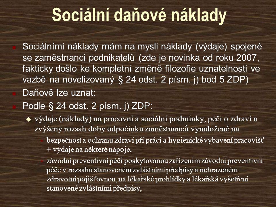Sociální daňové náklady