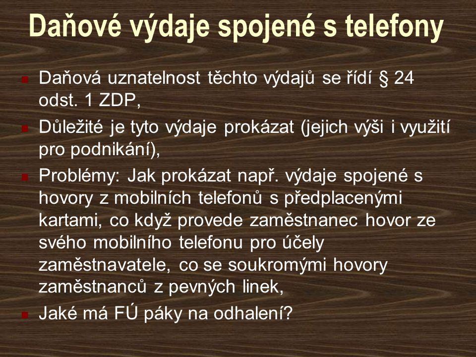 Daňové výdaje spojené s telefony