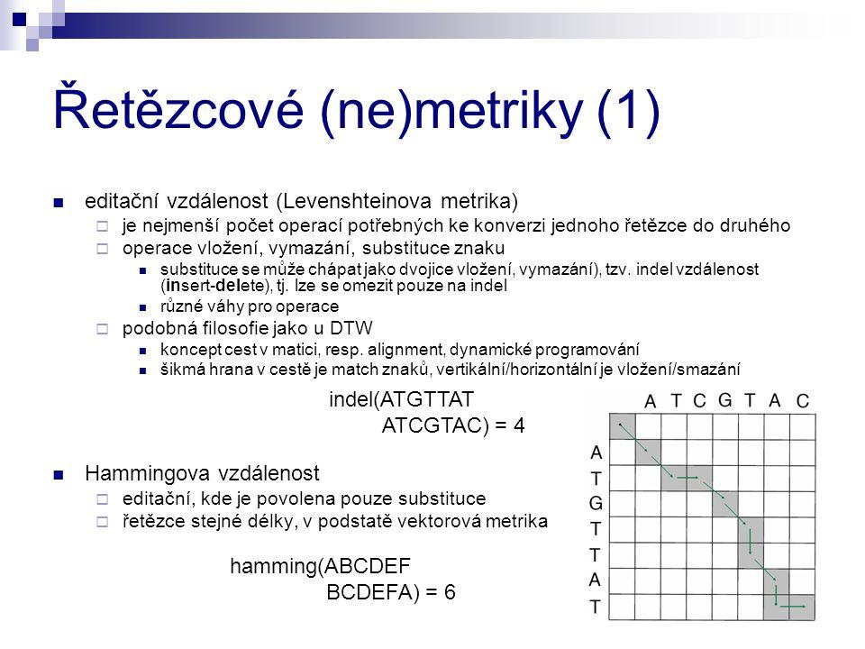 Řetězcové (ne)metriky (1)