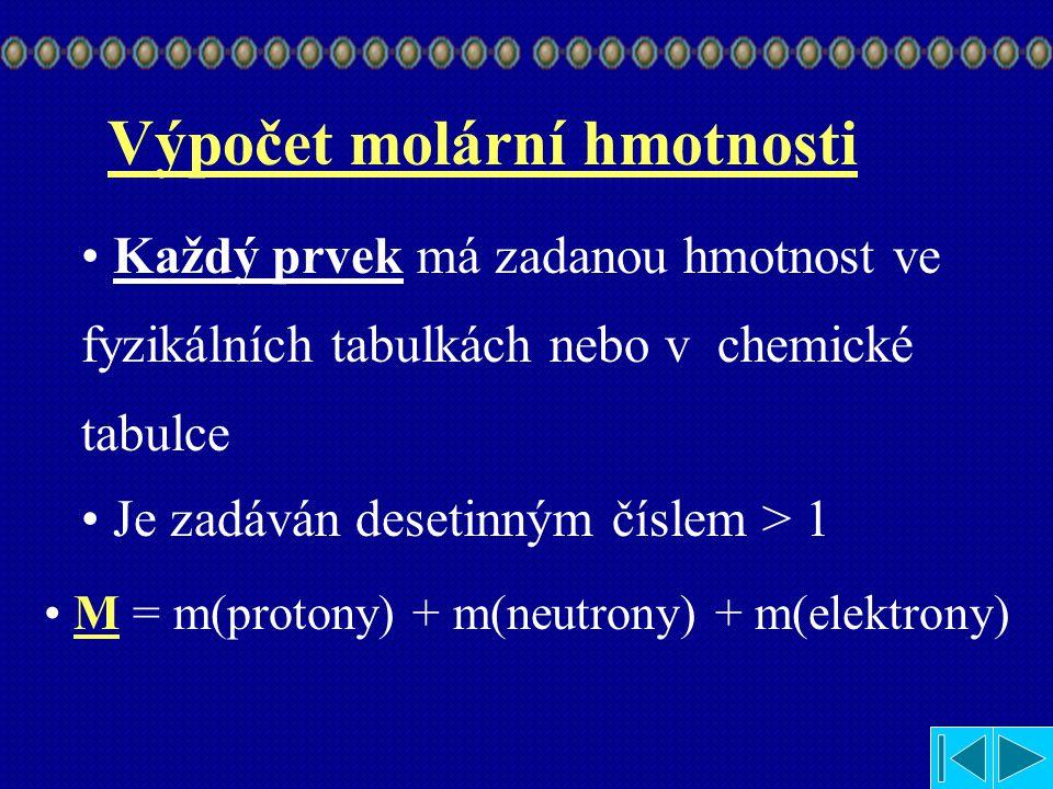 M = m(protony) + m(neutrony) + m(elektrony)
