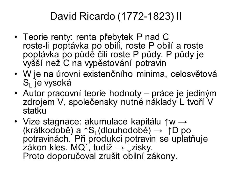 David Ricardo (1772-1823) II