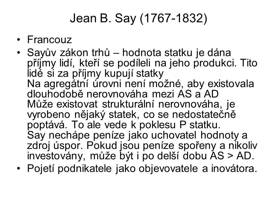 Jean B. Say (1767-1832) Francouz.