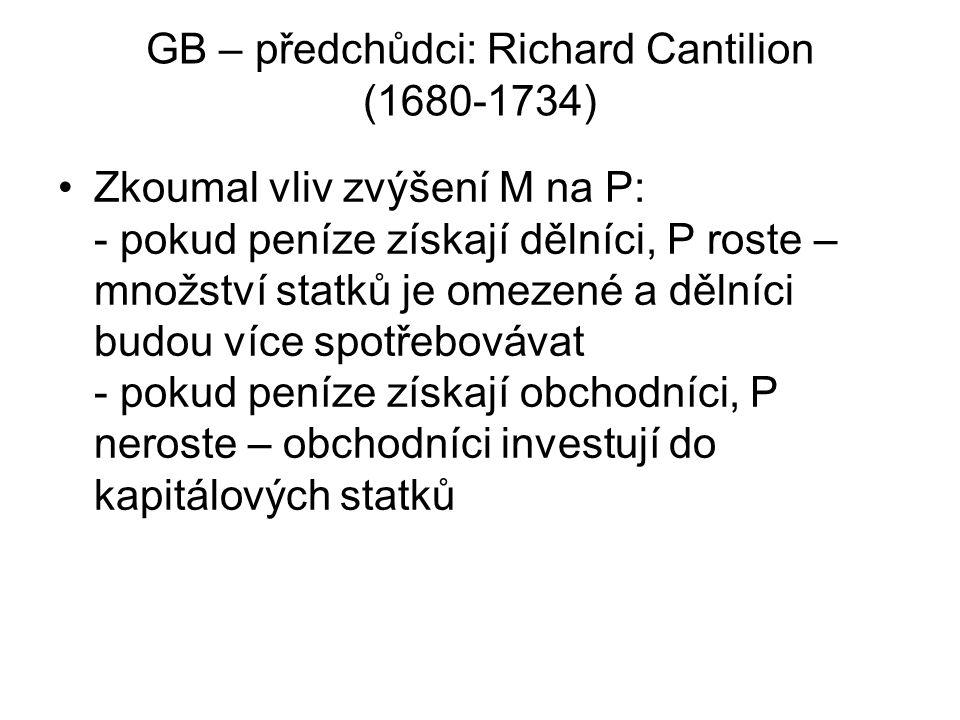 GB – předchůdci: Richard Cantilion (1680-1734)