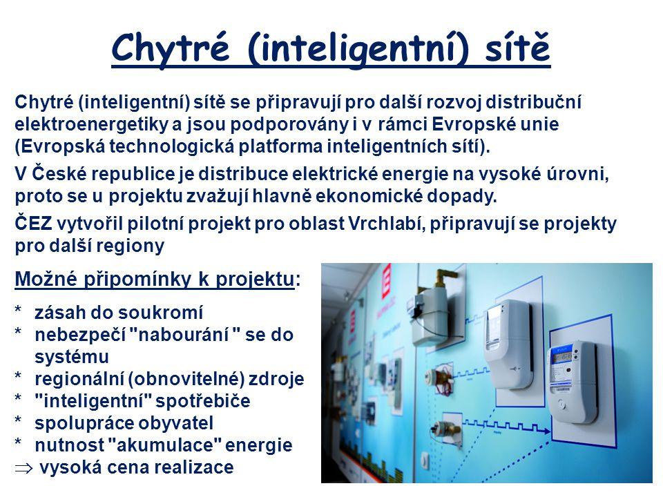 Chytré (inteligentní) sítě