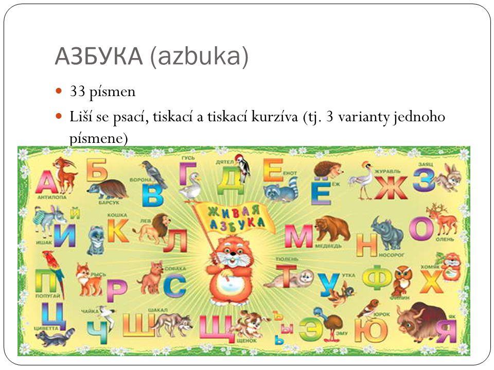 АЗБУКА (azbuka) 33 písmen