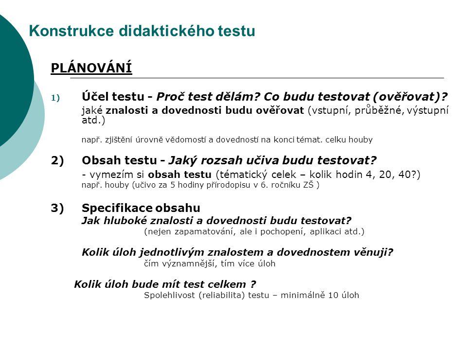 Konstrukce didaktického testu