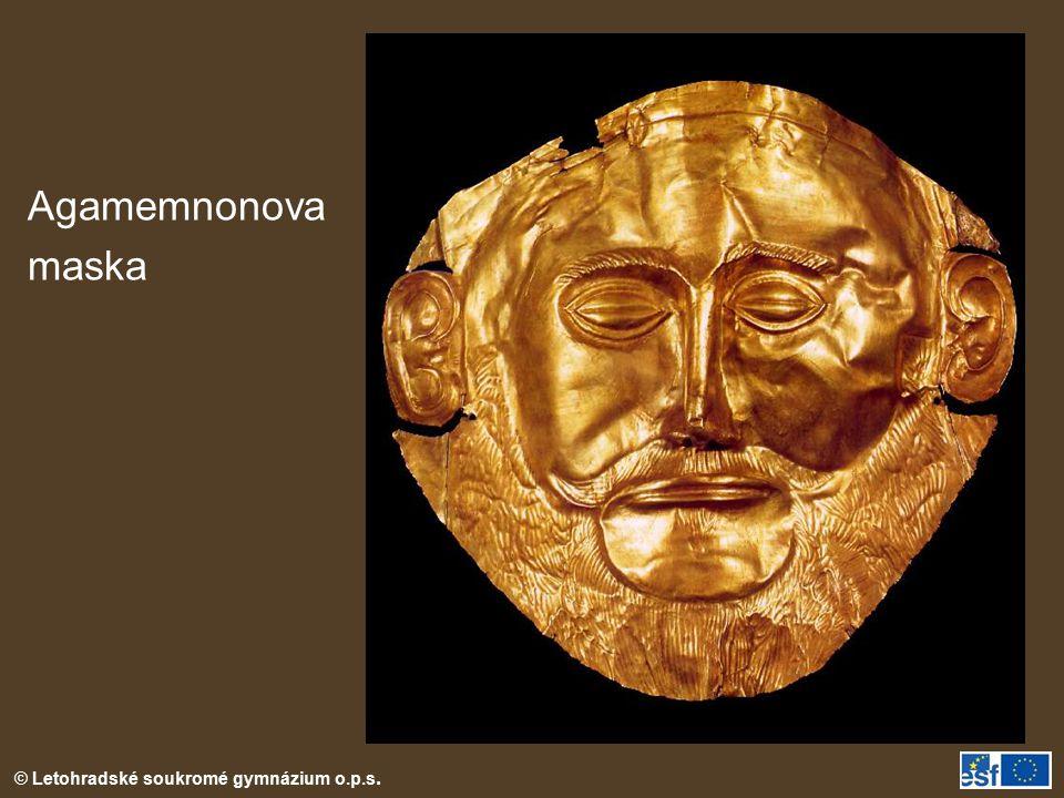Agamemnonova maska Tato maska byla součásti nálezu Atreovy pokladnice.