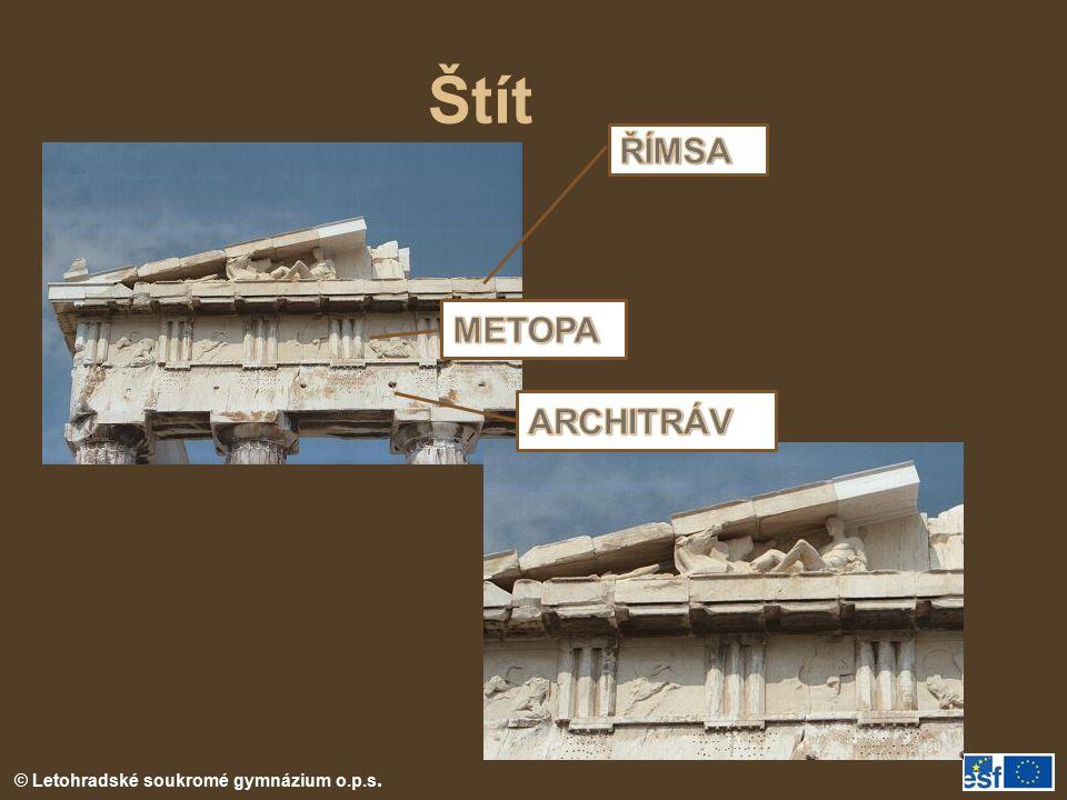 Štít ŘÍMSA METOPA ARCHITRÁV