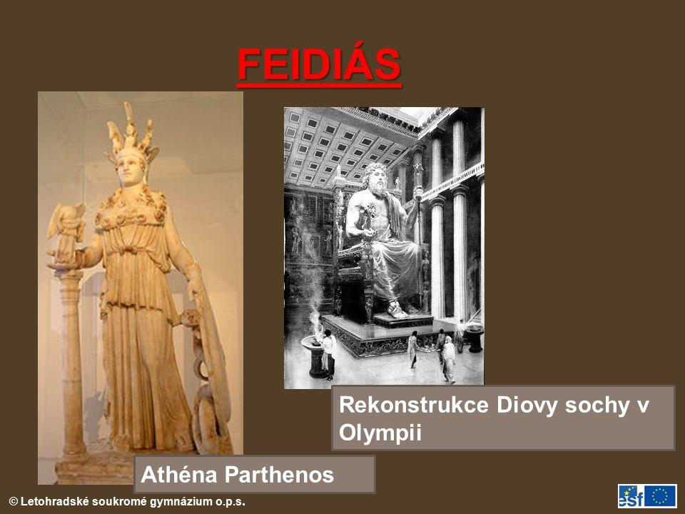 FEIDIÁS Rekonstrukce Diovy sochy v Olympii Athéna Parthenos