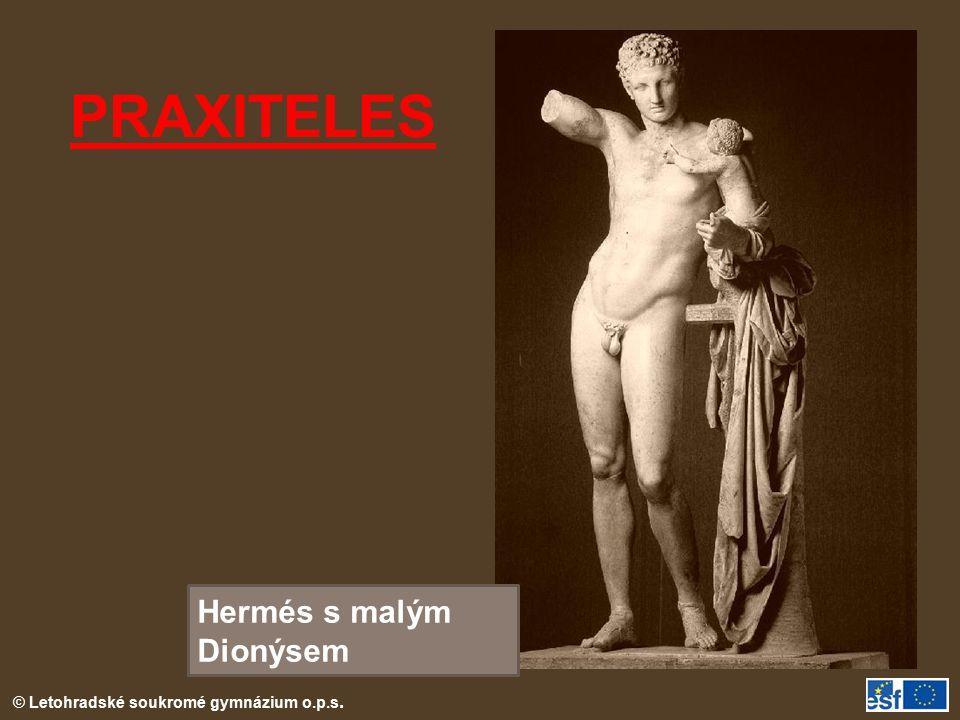 PRAXITELES Hermés s malým Dionýsem