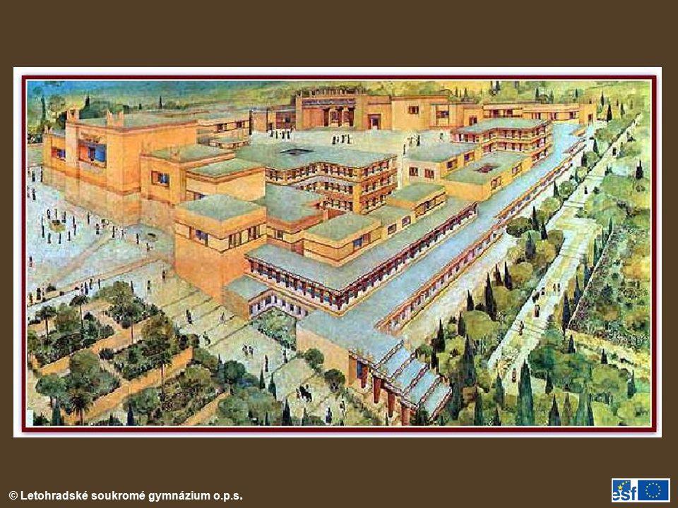Rekonstrukce areálu paláce v Knossu