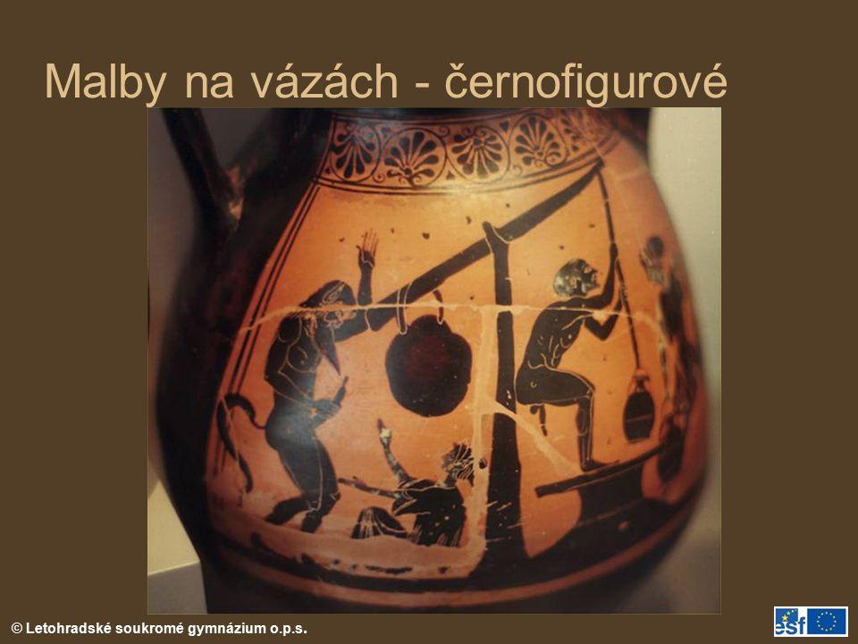 Malby na vázách - černofigurové