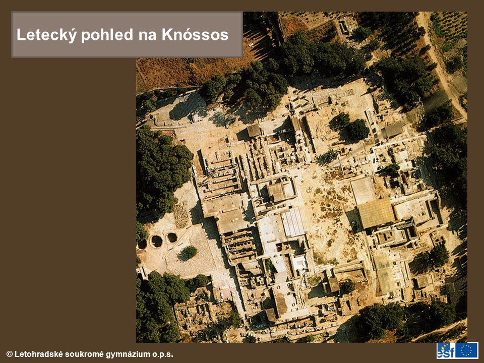 Letecký pohled na Knóssos