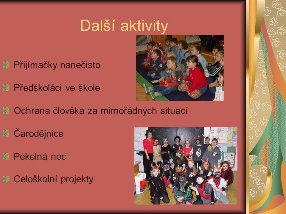 Další aktivity Přijímačky nanečisto Předškoláci ve škole