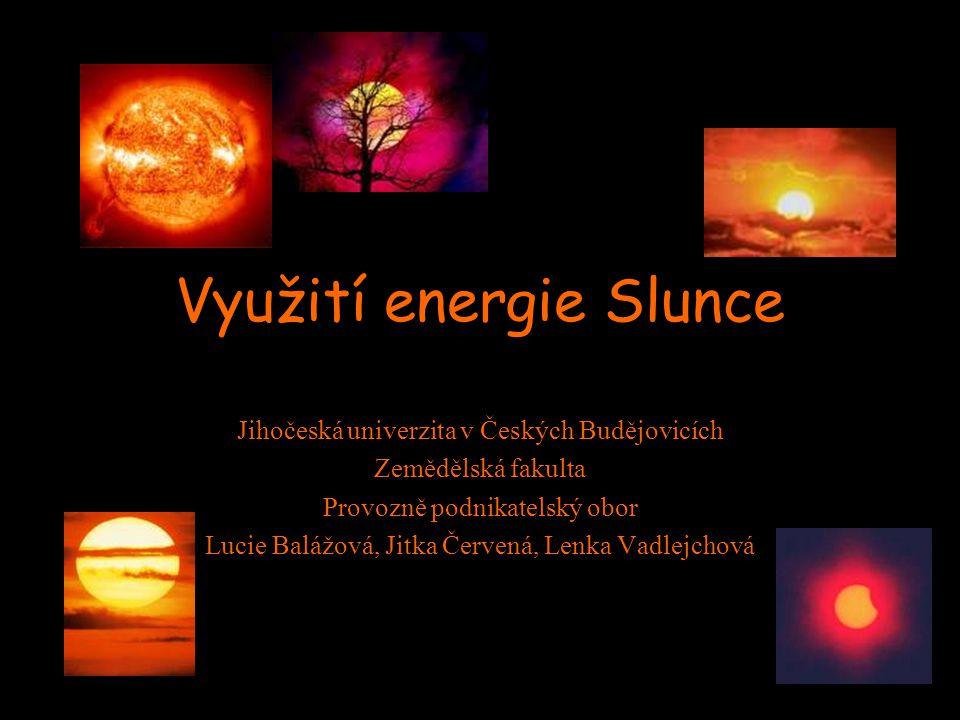 Využití energie Slunce