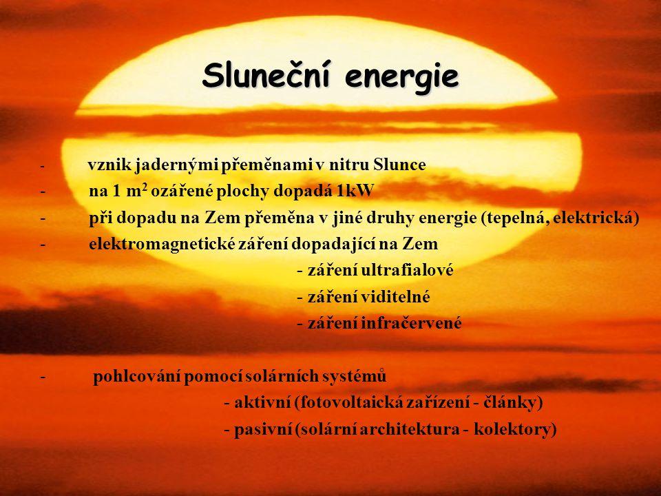 Sluneční energie na 1 m2 ozářené plochy dopadá 1kW