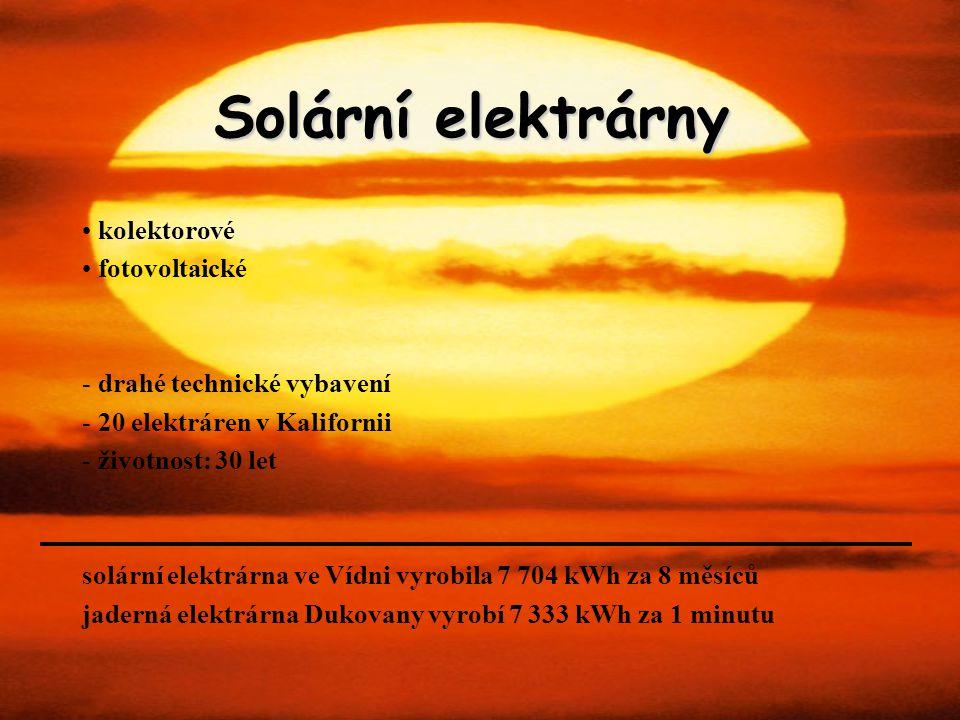 Solární elektrárny kolektorové fotovoltaické drahé technické vybavení