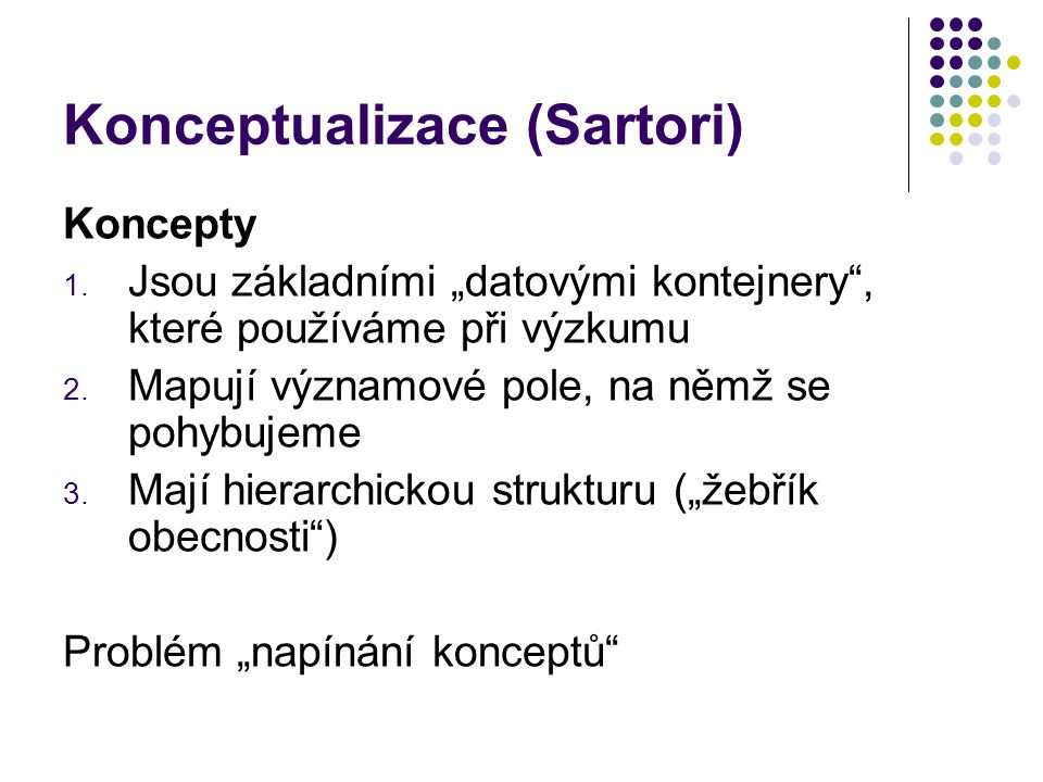 Konceptualizace (Sartori)