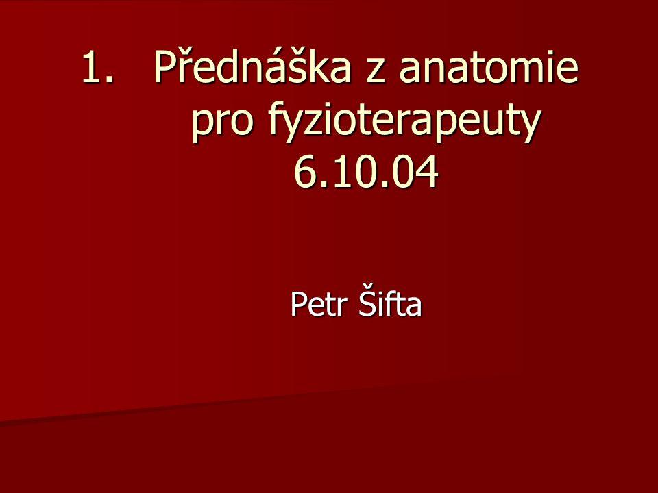 Přednáška z anatomie pro fyzioterapeuty 6.10.04