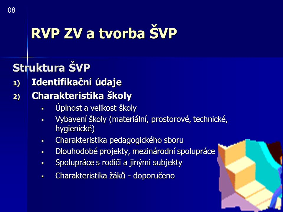RVP ZV a tvorba ŠVP Struktura ŠVP Identifikační údaje