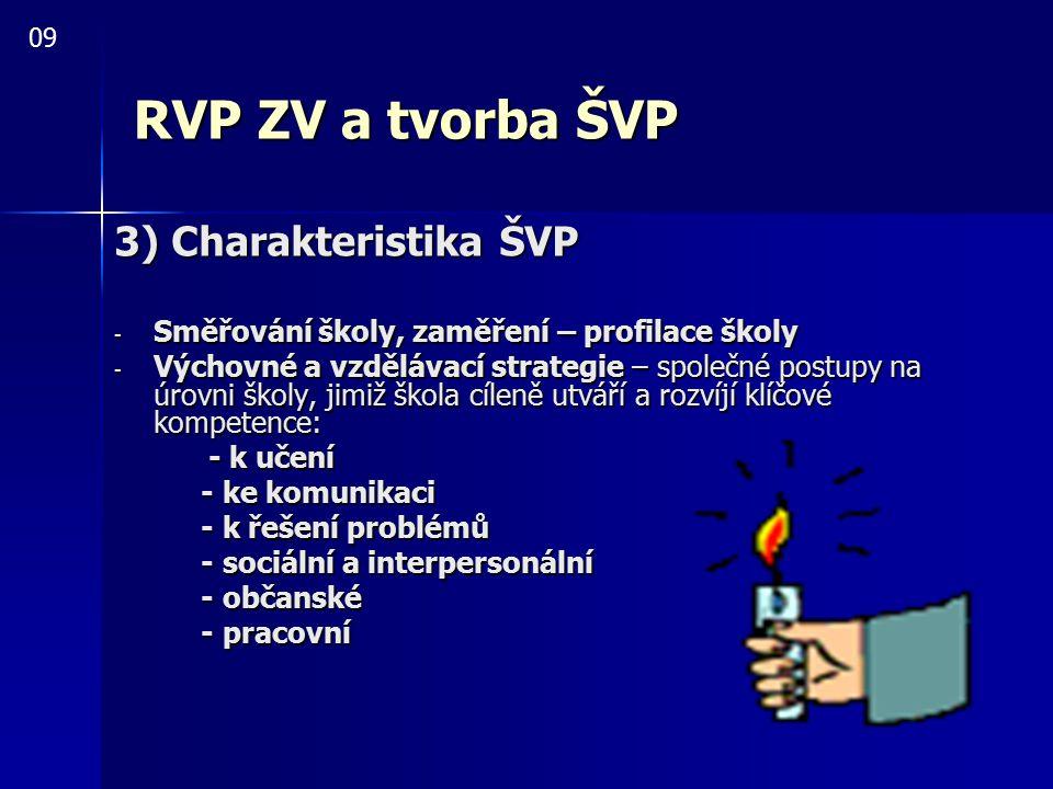 RVP ZV a tvorba ŠVP 3) Charakteristika ŠVP