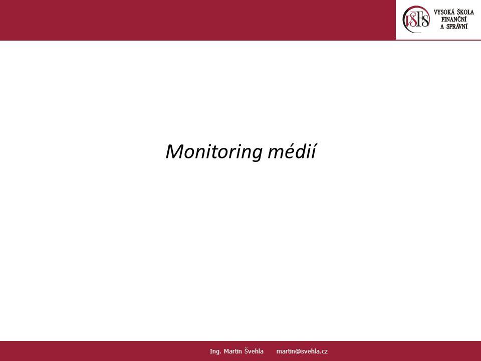 Monitoring médií Ing. Martin Švehla martin@svehla.cz