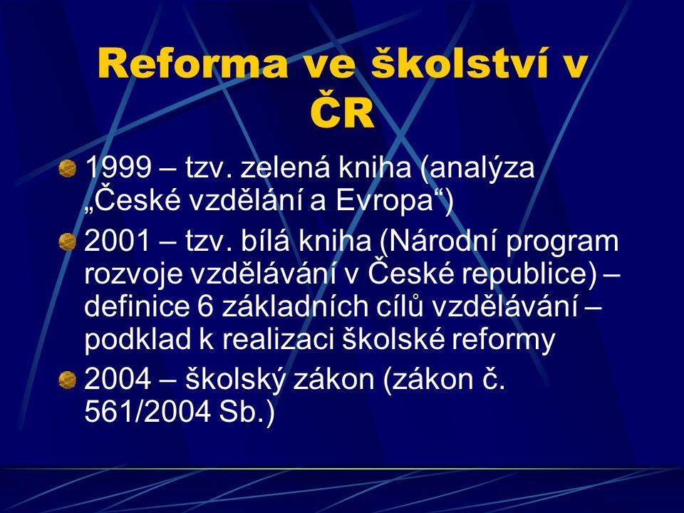 Reforma ve školství v ČR