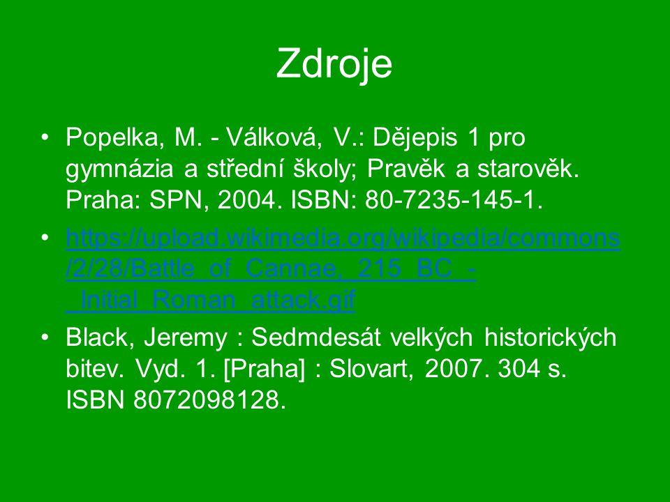 Zdroje Popelka, M. - Válková, V.: Dějepis 1 pro gymnázia a střední školy; Pravěk a starověk. Praha: SPN, 2004. ISBN: 80-7235-145-1.