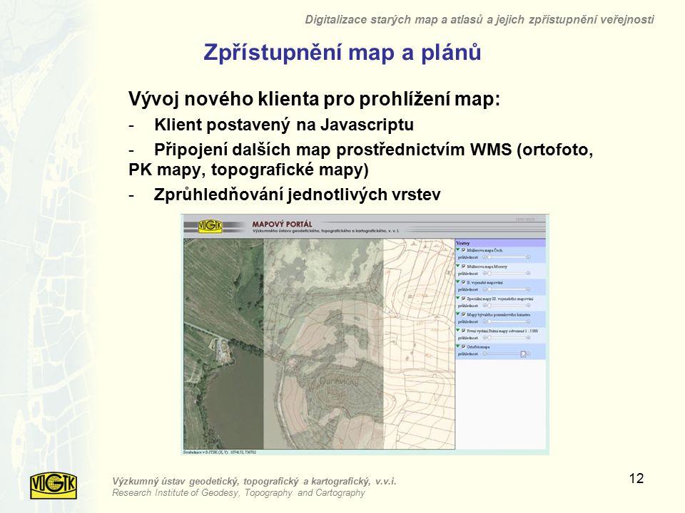 Zpřístupnění map a plánů