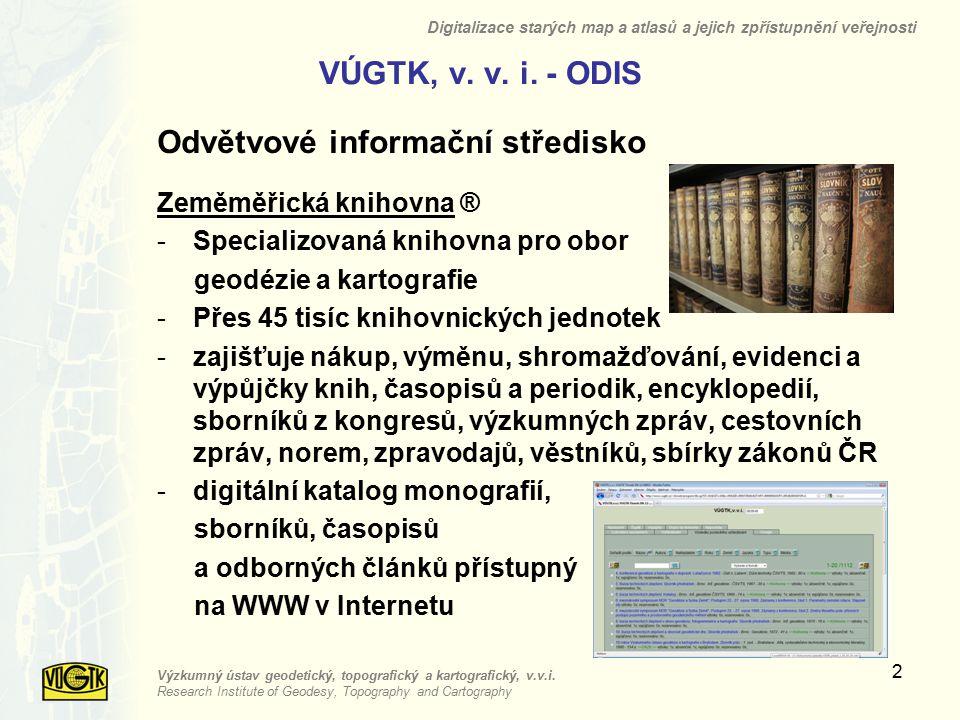 VÚGTK, v. v. i. - ODIS Odvětvové informační středisko