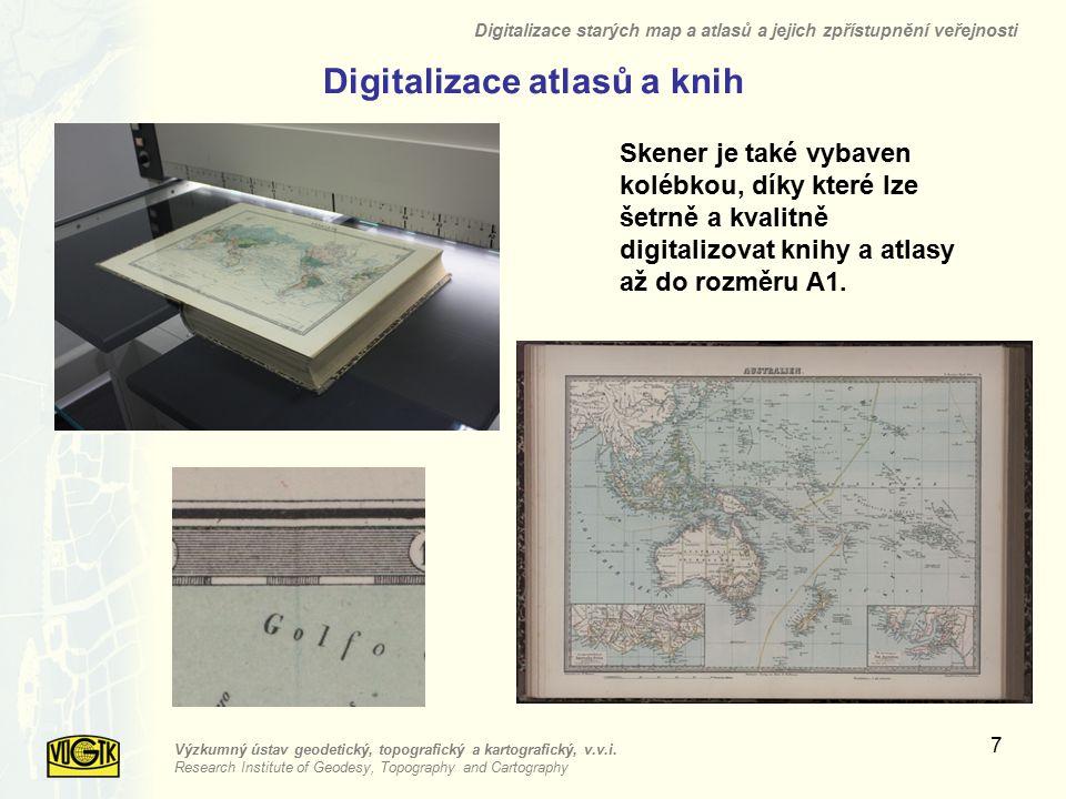 Digitalizace atlasů a knih