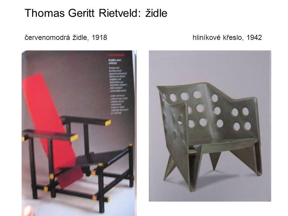 Thomas Geritt Rietveld: židle červenomodrá židle, 1918