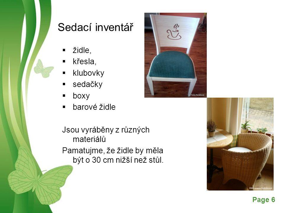 Sedací inventář židle, křesla, klubovky sedačky boxy barové židle