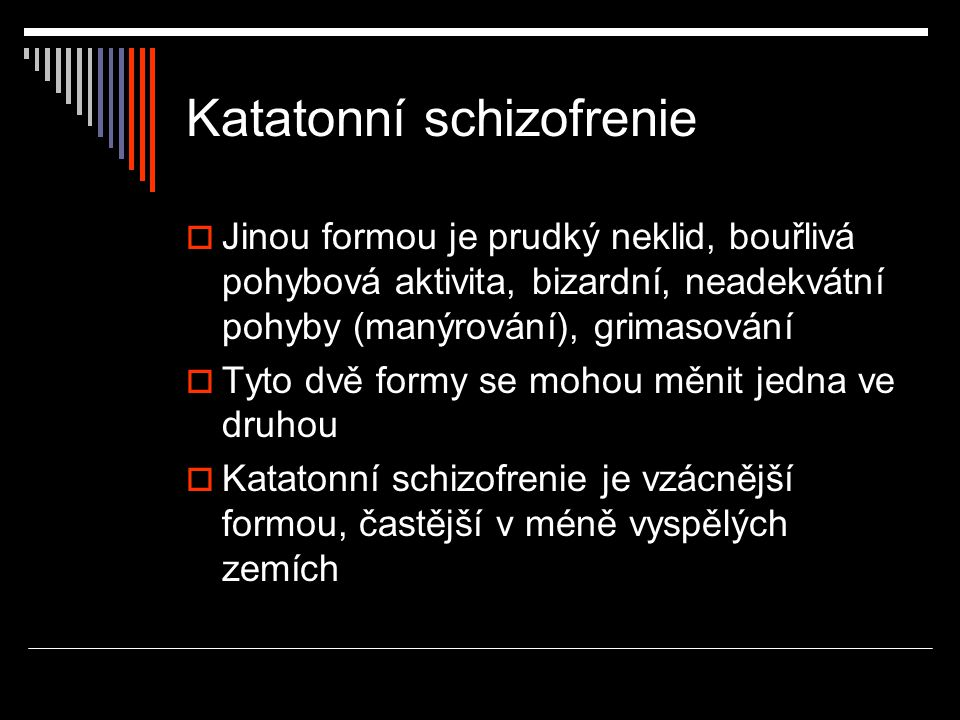 Katatonní schizofrenie