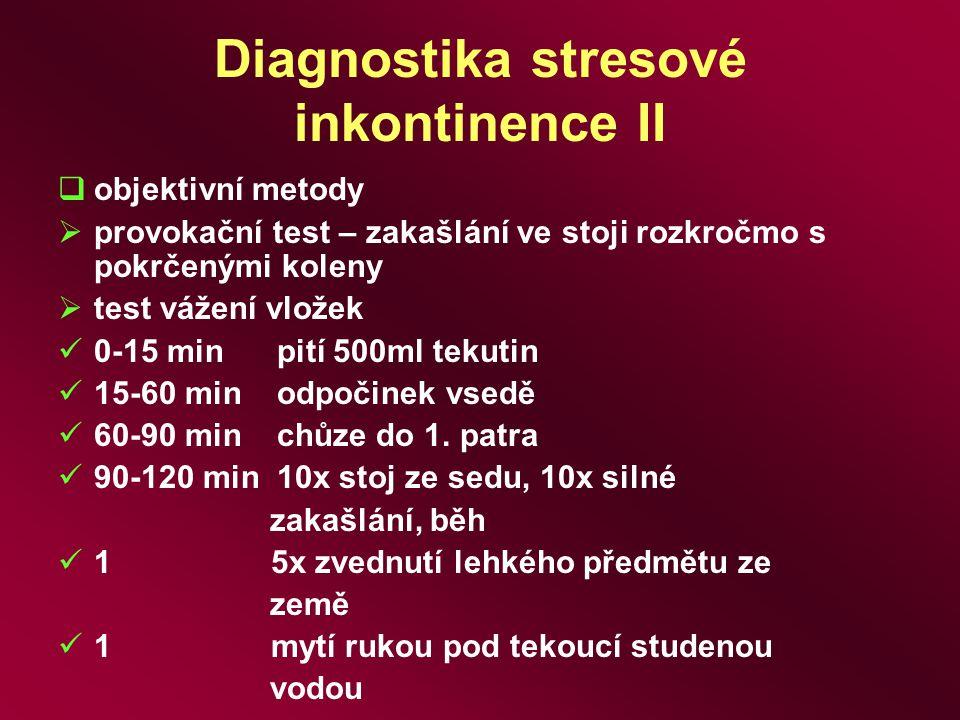 Diagnostika stresové inkontinence II