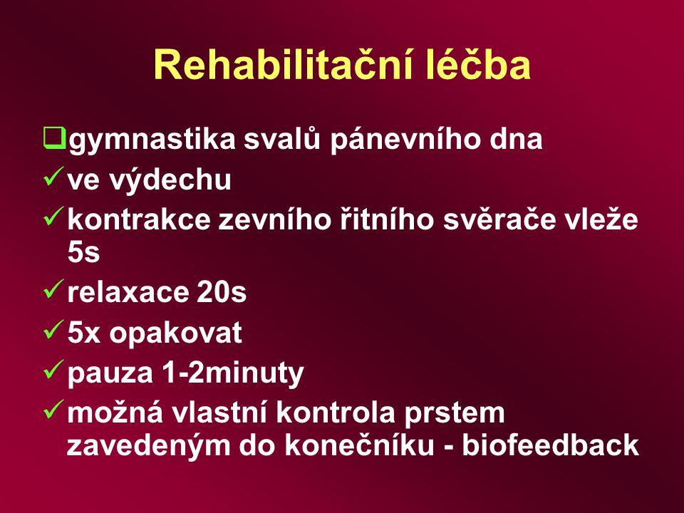 Rehabilitační léčba gymnastika svalů pánevního dna ve výdechu