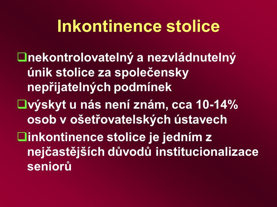 Inkontinence stolice nekontrolovatelný a nezvládnutelný únik stolice za společensky nepřijatelných podmínek.