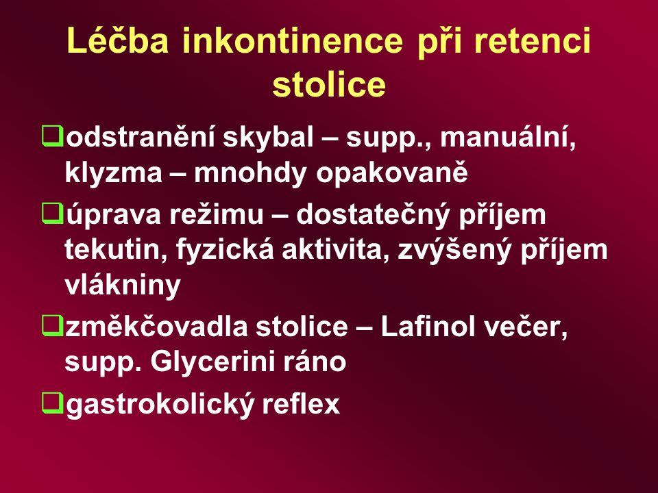 Léčba inkontinence při retenci stolice