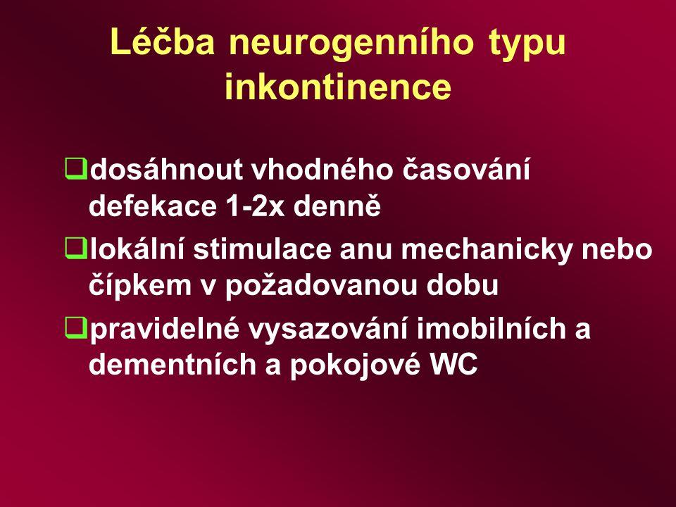 Léčba neurogenního typu inkontinence