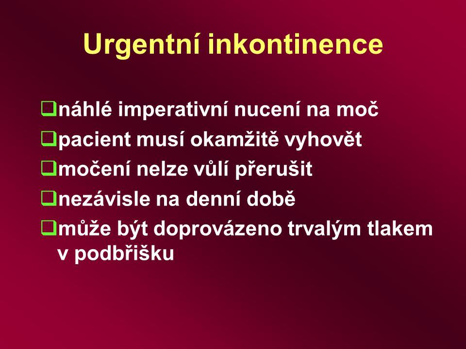 Urgentní inkontinence