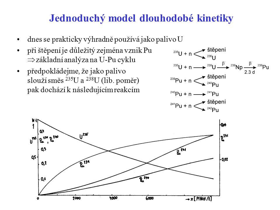 Jednoduchý model dlouhodobé kinetiky